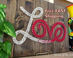 String Art DIY Kit Love Sign Free Shipping by StringoftheArt
