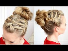 Triple French Braid Double Waterfall - YouTube
