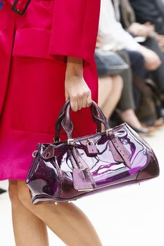 Violet PVC Bag ~ #londonfashionweek #lfw