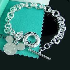 Tiffany Mickey Toggle Bracelet