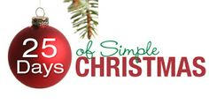Simply Living...For Him: 25 Days of Simple Christmas-Simple Acts of Kindness