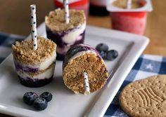KarambaKarina's Welt: Blueberry Cheesecake Ice Cream Pops von USA Kulinarisch