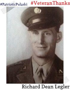 #PatrioticPulaski thanks Richard Legler for his service! #VeteranThanks #PulaskiCountyUSA #ReuniteInPulaski #Army