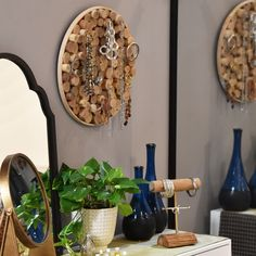 Why not make your wall art, functional? Fiberglass Planters, Candle Holders, Accent Pieces, Wall Art, Decorative Accessories, Accent Decor, Home Decor, Mirror, Occasional Furniture