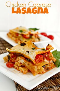 Caprese Chicken Lasagna Recipe - The perfect lasagna packed with flavor.