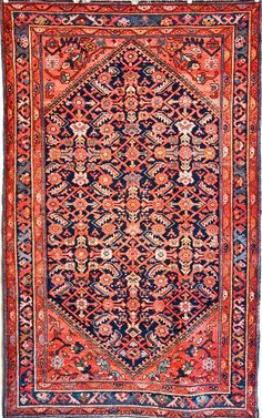 Mint Condition Antique Persian Malayer Rug