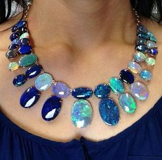 Beautiful fiery opal and diamond creations by Irene Neuwirth ~ Instagram WOW! ! GORGEOUS