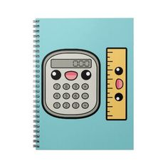 Cute Calculator And Ruler Spiral Note Books ($15) ❤ liked on Polyvore featuring home, home decor and spiral notebook