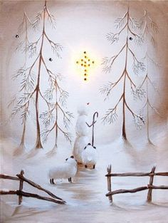 Canvas Print - Radiance Star of Wonder Lighted Canvas - Billy Jacobs Primitive Country Rustic Christmas Seasonal Winter Art by CW, http://www.amazon.com/dp/B009TIO1SQ/ref=cm_sw_r_pi_dp_M5jysb09J6BA1