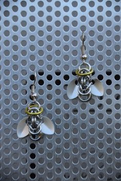 Angelic scalemail earrings.  My selfmade chainmail is also on facebook @ Ivy's Scale Mail