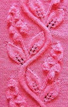 Many lace patterns Baby Sweater Knitting Pattern, Chunky Knitting Patterns, Knitting Stiches, Knitting Charts, Lace Knitting, Lace Patterns, Stitch Patterns, Crochet Patterns, Bobble Stitch