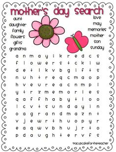 #MothersDay word search #worksheet