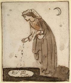 Edward Burne-Jones - A Lady Feeding Goldfish