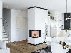 Kachelofen Modern Produkte - moderne Kamine & Kachelöfen vom Profi Oversized Mirror, Furniture, Home Decor, Modern Fireplaces, Tiling, Products, Home Furnishings, Interior Design, Home Interiors