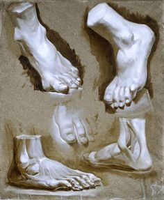 russian school shows FEET Anatomy Sketches, Drawing Sketches, Art Drawings, Human Anatomy Drawing, Anatomy Art, Leg Anatomy, Drawing Studies, Art Studies, Body Painting