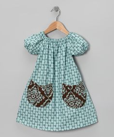 Take a look at this Blue Short-Sleeve Caitlin Dress - Toddler & Girls by Blue Juniper on #zulily today!