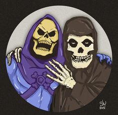 Skeletor and the Misfits Misfits Tattoo, Hybrid Moments, Misfits Band, Pop Art, Danzig Misfits, Heavy Metal Art, Famous Monsters, Arte Horror, Rockn Roll