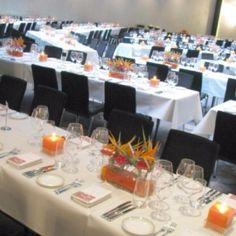 Tischdekoration für eine Veranstaltung in Düsseldorf