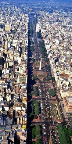 Avenida 9 de Julio is the widest avenue in the world. It is located in the city of Buenos Aires, Argentina. Its name honors Argentina Places Around The World, Travel Around The World, Around The Worlds, Argentine Buenos Aires, Places To See, Places To Travel, Travel Destinations, Chile, Argentina Travel