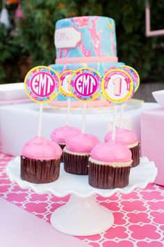 Cupcake Toppers - Love Lilly? Cute Lilly Pulitzer Inspired Birthday Party