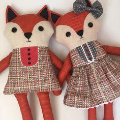 Frannie Fox PDF softie doll pattern by sewithit on Etsy