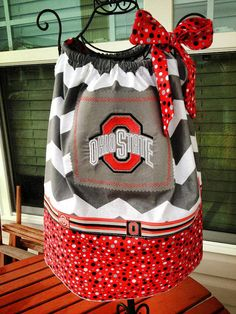 Ohio State Buckeyes Pillowcase Dress w/ by MissMatchBoutique, $25.99