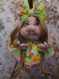 Кукла на Удачу или просто попик / Изготовление авторских кукол своими руками…