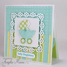 F4A195 Welcome Baby by Arizona Maine - Cards and Paper Crafts at Splitcoaststampers
