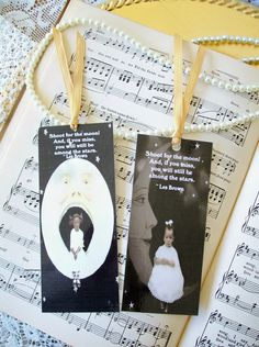 Bookmarks Kids Set of 2 Shoot for the Moon by PrayerNotes on Etsy, $4.00