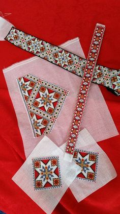 Beadwork and embroidery for Norwegian bunad. Embroidery Patterns, Hand Embroidery, Bead Crafts, Arts And Crafts, Traditional Dresses, Norway, Needlework, Cross Stitch, Textiles