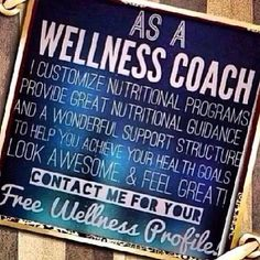 As a Wellness Coach I can help you reach your fitness goals in a safe and natural way while experiencing more energy!  greendreamnutrition@gmail.com