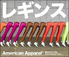 レギンス American Apparelのバナーデザイン