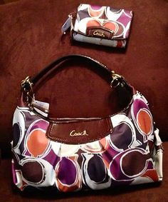 coach handbags factory outlet online 57ey  COACH F20063 ASHLEY Bag Purse MATCHING WALLET F48136