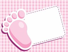 Pink Girl Footprint invitation
