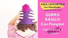 GORRO BÁSICO CON POMPÓN - Crochet en Tiempo Real con mamaQuilla
