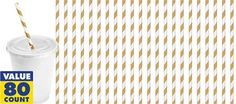 http://www.partycity.com/product/gold striped paper straws 80ct.do