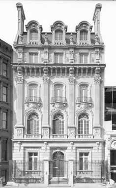 Edith Shepard Fabbri mansion, 11 East 62nd Street, bet. Fifth and Madison Aves, 1900, given to her as a wedding gift by her mother Margaret Vanderbilt Shepard