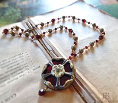 Stained Glass Tudor Rose ~ Parrish Relics Jewelry
