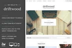 Driftwood - Wordpress Blog Theme by Nudge Media Design on @creativemarket