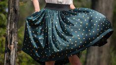 Funny dots gathered skirt