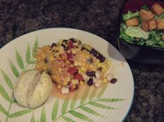 Southwestern Vegetable Bake (leave out the cheese!!!)
