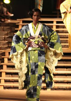 Cameroonian-born, Tokyo-based designer Serge Mouangue is the beautiful mind behind these lovely kimonos.