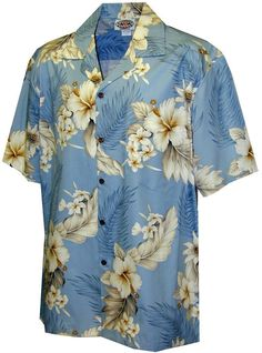 c77ce302 Plumeria Hibiscus-Hawaiian Shirts-Aloha shirt-Hawaiian Clothing at Amazon  Men's Clothing store: