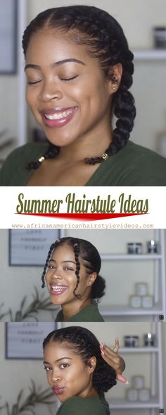 6 easy, elegant, and perfect summer natural hair ideas Top Beautiful Natural Hairstyles 2020 By Weopit. Looking for new, easy ways to style for your short, natural hair? Try one of these best natural hairstyles for some major hair inspiration. Natural Braided Hairstyles, Protective Hairstyles For Natural Hair, Natural Hair Braids, Natural Hairstyles For Kids, Natural Hair Styles For Black Women, Natural Styles, Elegant Hairstyles, Elegant Natural Hairstyles Black, Vintage Hairstyles