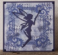 Blue fairy card, Marianne Design die cutting