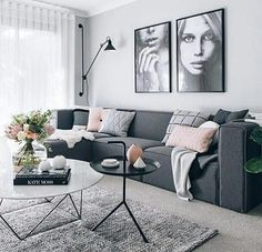 A small living-room can present a few design obstacles, yet with the appropriate layout ideas, small rooms can be transformed to create splendid living spaces. See our best living room design that can give you the best inspiration ! Living Room Stands, Room Design, Apartment Living Room, Home Decor, Grey Sofa Living Room, Room Inspiration, Apartment Decor, Living Room Grey, Gray Living Room Design
