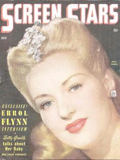 "Betty Grable on the cover of ""Screen Stars"" magazine, USA, July 1944."