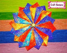 Learn how to fold this beautiful tea bag folding rosette at.....Aprende a doblar esta hermosa roseta para decorar tarjetas en.....http://craftmaniacss.blogspot.jp/2013/02/tea-bag-folding-4-rosette-2.html