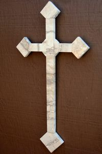 "Celebrate Your Faith, Medium Travertine Wall Cross, 16"" tall, $149, ea handmade"