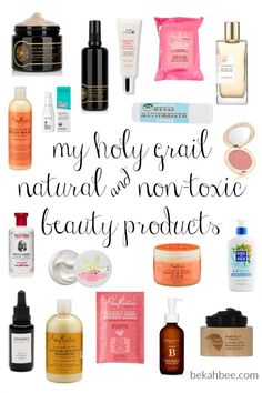 My Holy Grail Natural & Non-Toxic Beauty Products Natural Beauty Tips, Clean Beauty, Organic Beauty, Beauty Hacks Skincare, Beauty Products, Drugstore Beauty, Beauty Tricks, Makeup Products, Anti Aging Skin Care